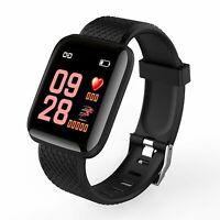 IP67 Montre Smart Watch Intelligente Barcelet  Connectée Bluetooth 4.0 Noir ME