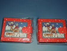 """2 Mary Engelbreit Reindeer Cowgirl Mini Photo Albums For 3"""" X 2 7/8"""" Pictures 24"""