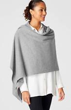 "J. Jill  Luxe Wool & Cashmere Wrap Shawl - Grey - 70"" X 30"" - Gorgeous!"