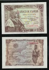 "Año 1945. 1 peseta Sin serie nº 5560731 ""Isabel La Católica"" SC CON FINO PLIEGUE"