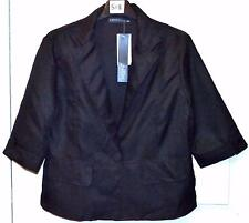 NEW SINGLE BREAST SHORT BLACK JACKET SIZE 14/16  # 518