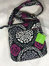 Vera Bradley Petite Double Zip Hipster Canterberry Magenta Quilted  Crossbody Bag 1284fab551898