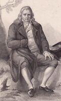 Portrait XIXe Jacques-Henri Bernardin de Saint-Pierre Le Havre Botanique 1846