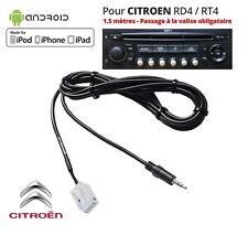 Câble AUX MP3 Auxiliaire Jack 3.5mm Citroën RD4 RT4DS3 C3 C4 C5 Picasso C6