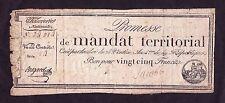 France  25 Francs Mandat territorial  1796   G