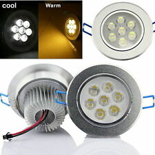 6/12/18x 3W/7W/12W Recessed LED Kit Ceiling DownLights Round Spotlight Lamp Bulb