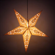 Christmas Decoration Paper Star Lamp Christmas Festive Party Star Lamp Lights