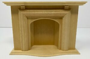 Vintage NOS Miniature Dollhouse Houseworks 1979 Wood Fireplace 1:12 Scale
