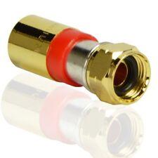 25x PremiumX F-Kompressionsstecker Kompression Stecker für SAT Kabel wasserdicht
