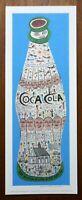 "Signed HOWARD FINSTER Folk Art COCA-COLA Print 10.25""x27.25"" Unframed MINT"