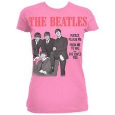 THE Beatles donna si prega si prega mi Manica Corta T-shirt, Rosa, Taglia 14 -