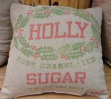 Christmas Cookie -Holly Sugar Throw Pillow -Primitive By Kathy-2 Sided