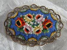 Glass Flowers/Plants Brooch/Pin Art Deco Costume Jewellery