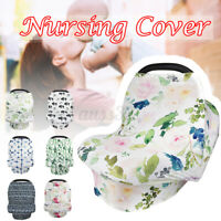 Nursing Cover Carseat Stroller Breathable Stretchy Breastfeeding Baby Car  New
