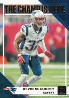 2019 DONRUSS CHAMP IS HERE DEVIN MCCOURTY NEW ENGLAND PATRIOTS INSERTS B3024