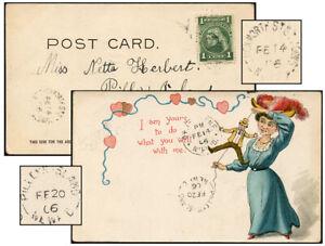 NEWFOUNDLAND FEB 1906 DUCKWORTH ST ST JOHN'S-PILLEYS ISLAND