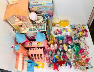 HUGE Lot My Little Pony G1 30 Ponies Dream Castle Waterfall Baby Buggy Nursery