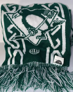 Pittsburgh Penguins Reversible Green and White Neck Scarf Muffler NHL