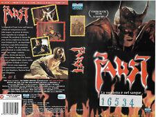 FAUST (2001) vhs ex noleggio