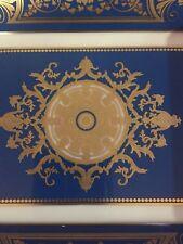 Bernardaud valet tray aux rois blu/ gold Limoges porcelain France new