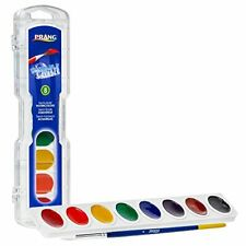 PRANG Washable Watercolor Paint Set, 16 Assorted Colors, Includes Brush (16016)