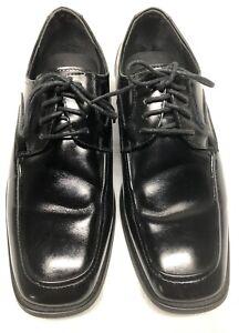 Stacy Adams Men's Lace Up Dress Shoes Black Patent Leather Size 10M~Free Ship