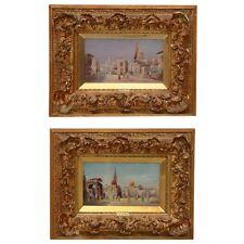 Karl Kaufmann Orientalist Oil Paintings- Period Gilt Frames-19th century