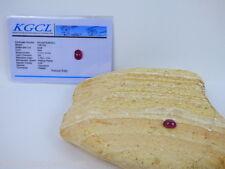 Roter Rubin(Mosambik) Cabochon-1,60 Karat -0,34 Gramm - Zertifikat - DR - Korund