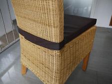 Stuhlkissen 40 x 40 x 4 cm Sitzkissen mit Klettband dunkelbraun, Kunstleder