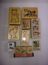 Precious Dogs and Cats, Puppies and Kittens Lot of 11 Rubber and Acrylic Stamps