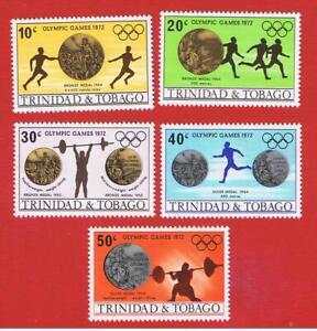 Trinidad& Tobago #223-227  MNH OG  Olympics  Free S/H