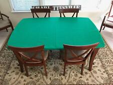 CARD table cover - Poker Felt Tablecloth for round or square table.  Elastic bl