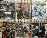 LOT OF 6 RECOIL GUN CULTURE Magazine ISSUES 17, 22, 23, 25, 28 &30