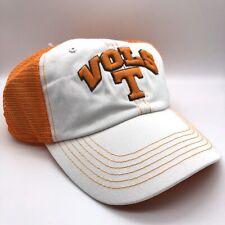 NEW Tennesee Vols Baseball Cap White Orange Mesh Snapback Hat TOW Adjustable