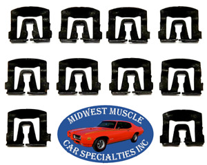 67 1967 Ford Mustang Front Windshield Rear Window Molding Trim Clip 10pcs UE