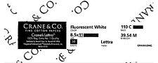 Crane's Lettra Fluorescent White 110# cover / 50 sheets / 100% cotton card stock