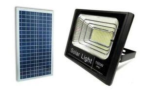 Phare Projecteur LED SMD 100W Avec Panneau Solaire Rechargeable Énergie Tombée