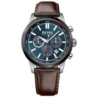 BRAND NEW HUGO BOSS RACING CHRONOGRAPH BLUE DIAL LEATHER MEN WATCH HB1513187