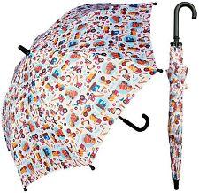 """32"""" Children Kid Trucks Print Umbrella - RainStoppers Rain/Sun UV"""