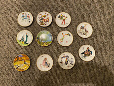 Lot Of 11 Norman Rockwell Four Seasons Mini 4'' Collector Plates