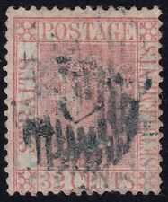 STRAITS SETTLEMENTS 1867 Isc#18 32c Crown CC bottom CREASED @P947