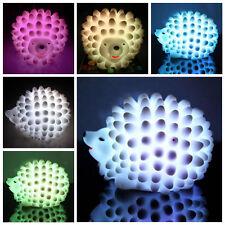 Hot Sale Colorful Cute Hedgehog Night Light Led Desk Bed Lamp Children Kids Gift