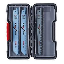 Pour Métal/Bois-Bosch Pro Sabre Blades (15) Tough Box 2607010901 3165140846479