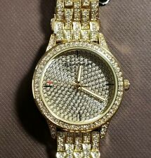 Juicy Couture Black Label Breclet Watch With 38mm Golden Face With Crystal's