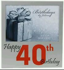 "HAPPY 40TH BIRTHDAY PHOTO / PICTURE FRAME GIFT / PRESENT 5"" X 3.5"" MALE / FEMALE"