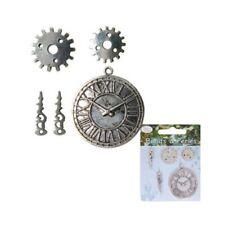 Loisirs creatifs - Bijoux - 5 charms breloques - Pièce horloge