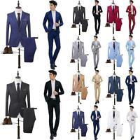 Mens Wedding Dress Slim Fit Suit Business Formal Men's Clothing Suits 2Pcs Set
