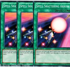 Spell Shattering Arrow SDZW X*3 Yugi's World Legendary Collection YU-GI-HI! Mint