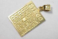 Bingo Charm Card Pendant 14k Yellow Gold 2.8 Gram Brand DZ Toys & Games