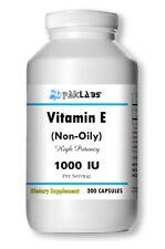 Vitamin E 1000 IU (non oily) Dl-Alpha Tocopheryl 200 Capsules BIG BOTTLE USA SHI
